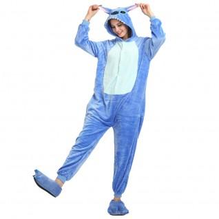 Blue Stitch Kigurumi Animal Onesie Pajama Costumes for Adult