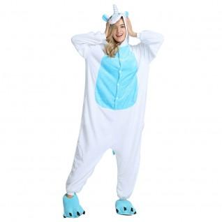 Blue Unicorn Kigurumi Onesies Pajamas Animal Onesies for Adult