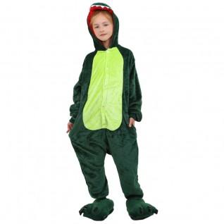 Kids Green Dinosaur Kigurumi Animal Onesies Pajamas