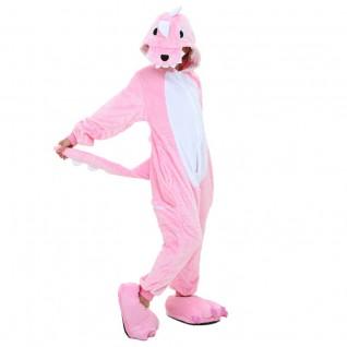 Kids Pink Dinosaur Kigurumi Onesies Pajamas Animal Costumes