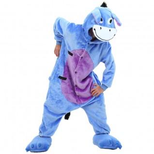 Kids Eeyore Donkey Kigurumi Animal Onesies Pajamas