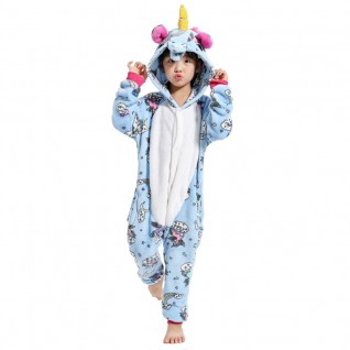 Kids Belly Unicorn Kigurumi Animal Onesies Pajamas