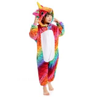 Kids Fish Scale Unicorn Kigurumi Animal Onesies Pajamas