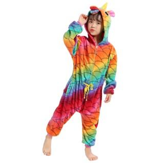 Fish Belt Unicorn Kigurumi Animal Onesies Pajamas for Kids