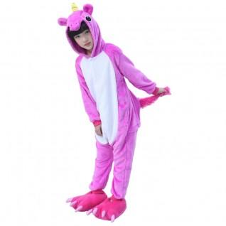 Kids Animal Onesies Pajamas Unicorn Rose Red Kigurumi Onesies Pajamas