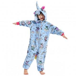 Kids Zipper Unicorn Kigurumi Animal Kids Onesies Pajamas