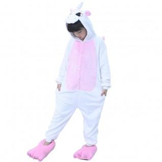 Kids Unicorn Pink Kigurumi Animal Onesies Pajamas