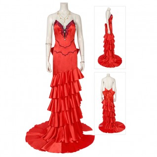 Aerith Gainsborough Red Dress Final Fantasy VII Remake Cosplay Costume