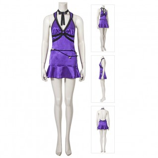 Tifa Lockhart Purple Dress Final Fantasy VII Remake Cosplay Costume