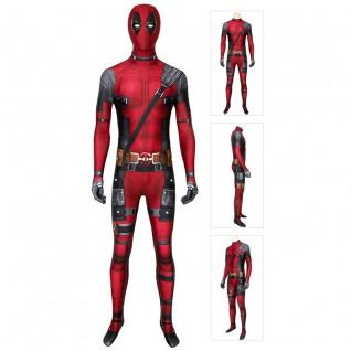 Deadpool Halloween Cosplay Costume Wade Wilson Jumpsuit