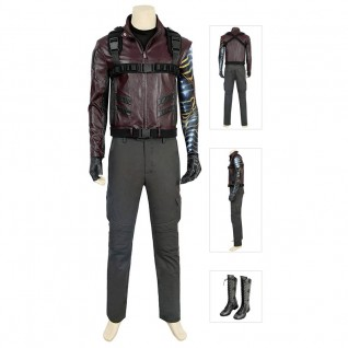 Bucky Barnes Cosplay Costume The Falcon and the Winter Soldier Costumes