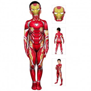 Iron Man Costume for Kids The Avengers Tony Stark Cosplay Jumpsuits