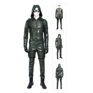 Green Arrow Cosplay Costume Oliver Queen Green Arrow Season 5 Suits