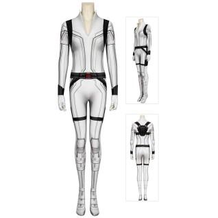 Black Widow Cosplay Costume Natasha Romanoff White Jumpsuit
