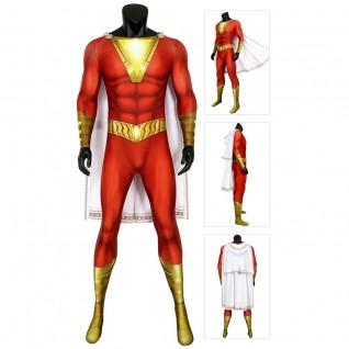 Shazam Cosplay Costume Billy Batson Jumpsuits