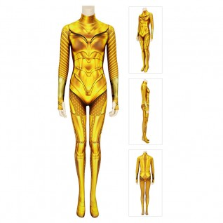 Diana Prince Costume Wonder Woman 1984 Cosplay Suits Golden