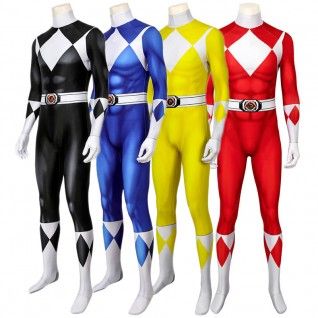 Power Rangers Costume for Adult Mighty Morphin Cosplay Suits