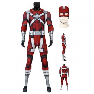 Red Guardian Cosplay Costume Movie Black Widow Ronin Jumpsuits