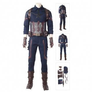 Steve Rogers Costume Captain America Cosplay Avengers: Infinity War Suits