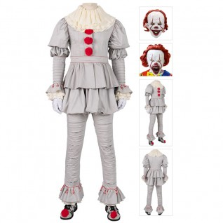 Pennywise Costume The Dancing Clown IT Chapter Two Cosplay Costumes