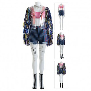 Harley Quinn Cosplay Costume Birds of Prey Top Level Suits