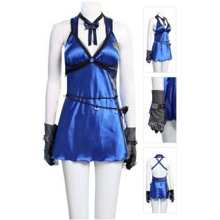 Tifa Lockhart Blue Dress Final Fantasy VII Remake Cosplay Costume