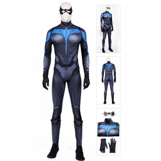 Titans Nightwing Costume Dick Grayson Cosplay Suit