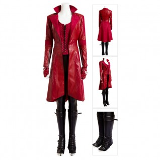 Scarlet Witch Costume Wanda Maximoff Cosplay Suit Deluxe