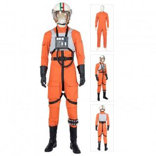 Luke Skywalker Pilot Costume Star Wars Costume X-Wing Pilot Fighter Cosplay Suit
