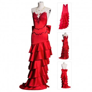 Aerith Gainsborough Cosplay Costume Final Fantasy VII Remake Red Dress