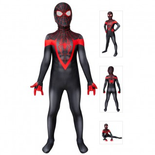 Kids Spider-Man Miles Morales Cosplay Costume Spiderman Suits