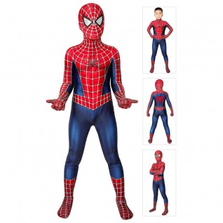 SpiderMan Suit Tobey Maguire Cosplay Costume for Kids
