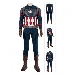 Captain America Suit Avengers-Endgame Steve Rogers Cosplay Costumes