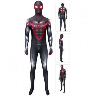 Spider-Man Miles Morales Costume Spiderman Cosplay Jumpsuit