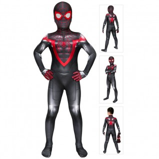 Spider-Man Miles Morales Costume Spiderman Cosplay Suit for Kids