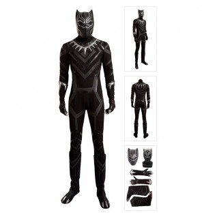 Real Black Panther Costume Cosplay Deluxe Version Full Set
