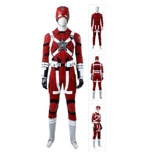 Red Guardian Costume Deluxe Version Cosplay Suits