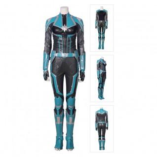 Captain Marvel Cosplay Costume Green Version Carol Danvers Suit