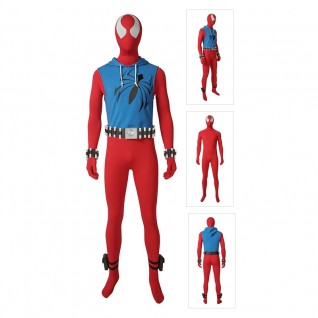 Scarlet Spider Man Cosplay Costume Ben Reily Costume