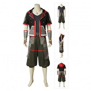 Sora Cosplay Costume Kingdom Hearts 3 Suit Deluxe Version