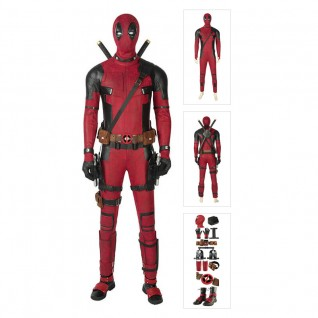Deadpool Cosplay Costume Full Set Wade Winston Wilson Deluxe Outfit