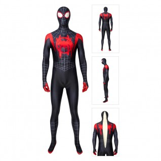 The Spider-Verse Suit Miles Morales Spider-Man Cosplay Costume