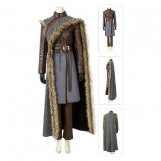Arya Stark Cosplay Costume Game of Thrones Season 8 Suits
