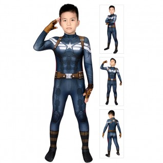 Captain America Costume for Kids Steve Rogers Cosplay Bodysuits