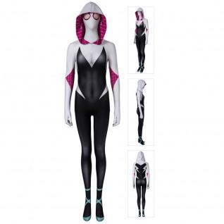 Spider Gwen Suit Spider-Man Into the Spider-Verse Cosplay Costume