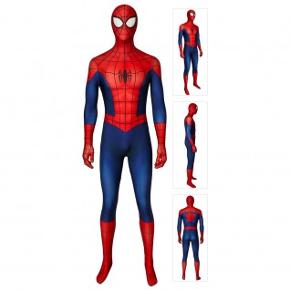 Classic Ultimate Spider-Man Suit Peter Parker Spiderman Cosplay Costume