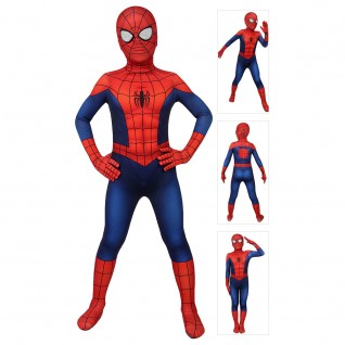 Classic Ultimate Spider-Man Suit for Kids Spiderman Cosplay Costume