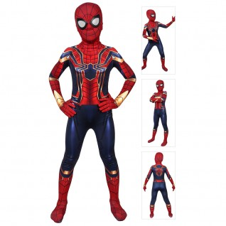 Iron Spiderman Suit for Kids Avengers Endgame Cosplay Costume