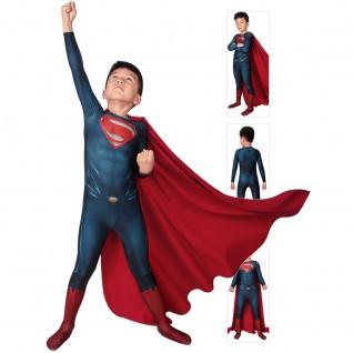 Superman Suit for Kids Clark Kent Costume Man of Steel Cosplay Bodysuit
