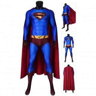 Superman Cosplay Costume Superman Returns Clark Kent Jumpsuit